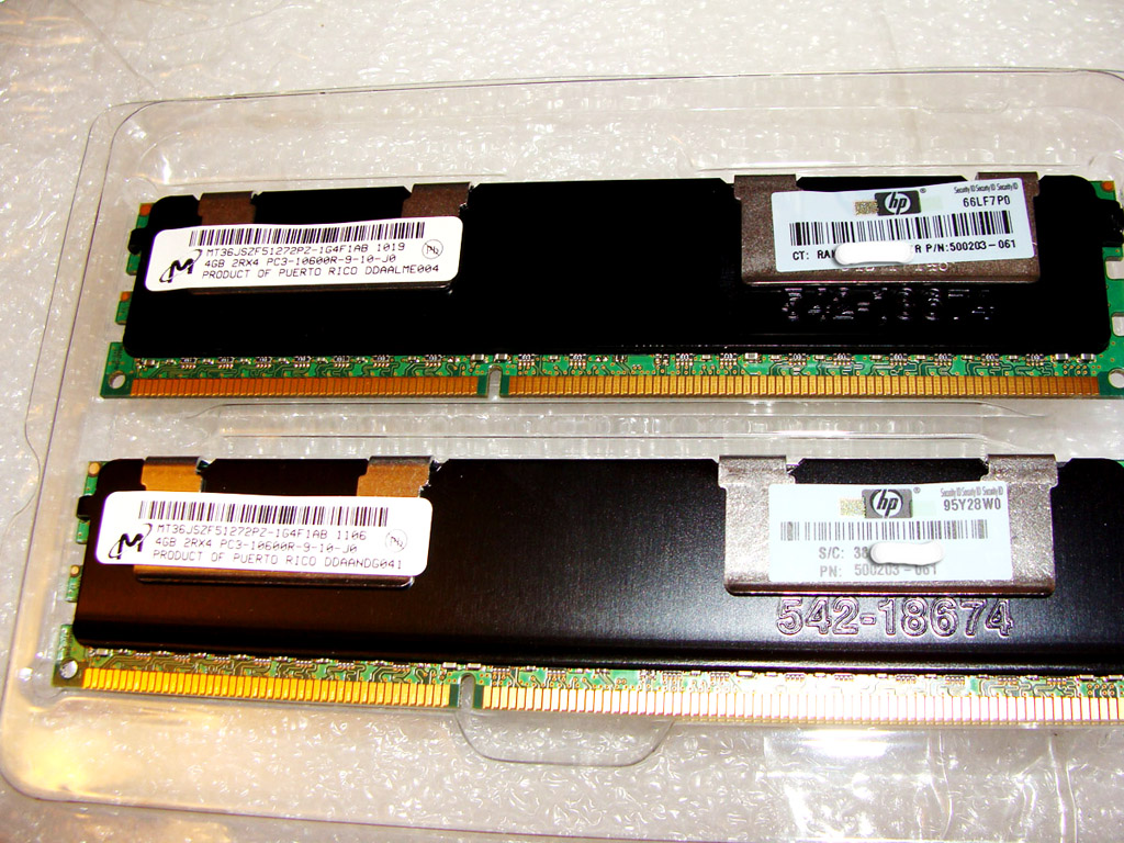 DIMM 4Gb pc3-10600r для серверов HP G7 и G6